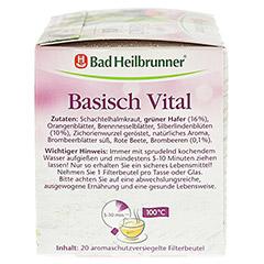 BAD HEILBRUNNER Kräutertee Basisch Vital Fbtl. 20 Stück - Linke Seite