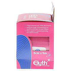 KINESIOLOGIE Tape Elyth 5 cmx5 m rot 1 Stück - Rechte Seite