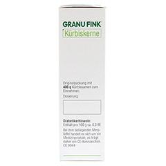 GRANU FINK Kürbiskerne 400 Gramm - Rechte Seite