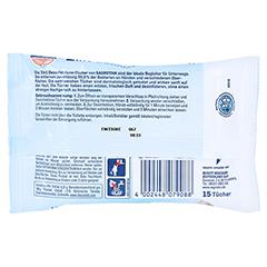 SAGROTAN 2in1 Desinfektions-Tücher 15 Stück - Rückseite