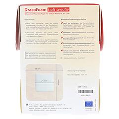 DRACOFOAM Haft sensitiv Schaumst.Wund.5x5 cm 10 Stück - Rückseite