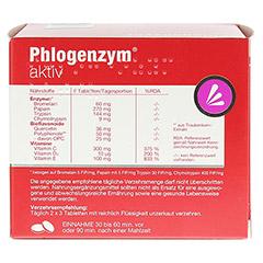 PHLOGENZYM aktiv magensaftresistente Tabletten 240 Stück - Rückseite
