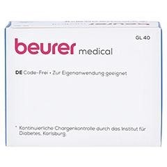 BEURER GL40 Blutzuckerteststreifen 100 Stück - Rückseite