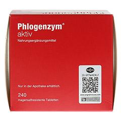 PHLOGENZYM aktiv magensaftresistente Tabletten 240 Stück - Oberseite