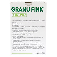 GRANU FINK Kürbiskerne 400 Gramm - Rückseite