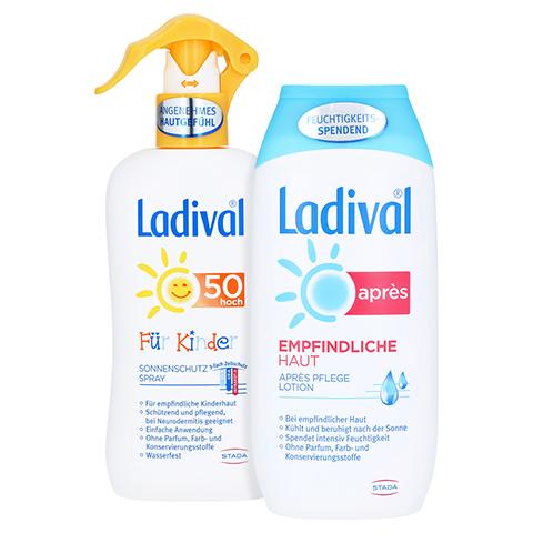 Ladival Kinder Spray LSF 50 + gratis Ladival Empfindliche Haut Apres Lotion 200 ml 200 Milliliter