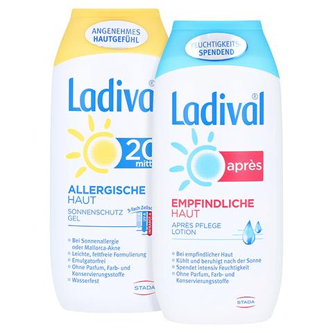 Ladival Allergische Haut Gel LSF 20 + gratis Ladival Empfindliche Haut Apres Lotion 200 ml 200 Milliliter