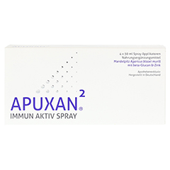 APUXAN Spray 4x30 Milliliter - Vorderseite