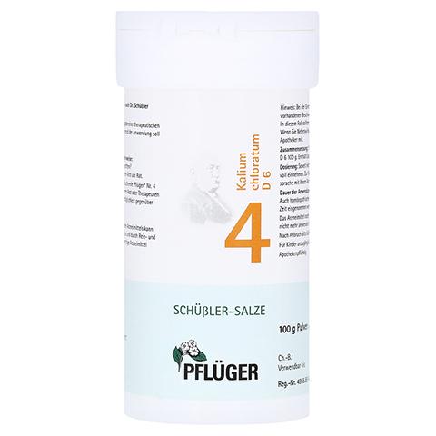 BIOCHEMIE Pflüger 4 Kalium chloratum D 6 Pulver 100 Gramm N2