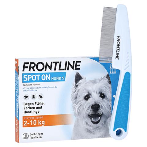 Frontline Spot On gegen Zecken und Flöhe bei Hunden bis 2 - 10 kg + gratis Frontline Flohkamm 6 Stück