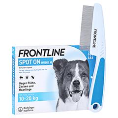 Frontline Spot On gegen Zecken und Flöhe bei Hunden 10 - 20 kg + gratis Frontline Flohkamm 6 Stück