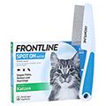Frontline Spot On gegen Zecken und Flöhe bei Katzen + gratis Frontline Flohkamm 6 Stück