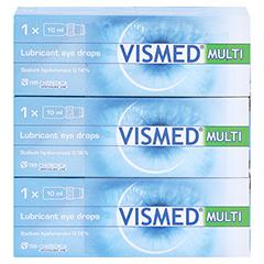 VISMED MULTI Augentropfen 3x10 Milliliter - Vorderseite