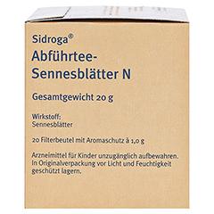 Sidroga Abführtee-Sennesblätter N 20x1.0 Gramm - Rechte Seite
