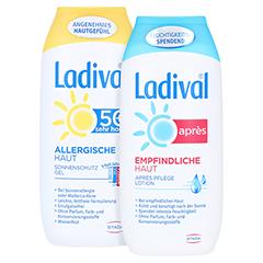 Ladival Allergische Haut Gel LSF 50+ + gratis Ladival Empfindliche Haut Apres Lotion 200 ml 200 Milliliter