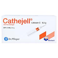 CATHEJELL Lidocain C steriles Gleitgel ZHS 8,5 g 25 Stück - Oberseite