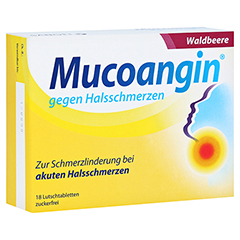 Mucoangin gegen Halsschmerzen Waldbeere 18 Stück