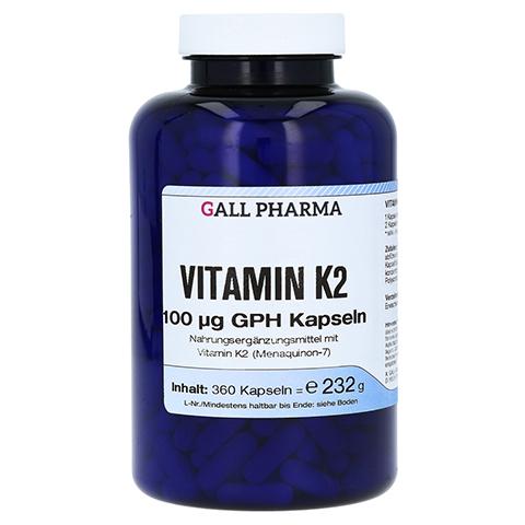 VITAMIN K2 100 µg GPH Kapseln 360 Stück