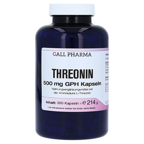 THREONIN 500 mg GPH Kapseln 360 Stück