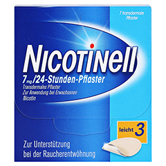 Nicotinell 7mg/24Stunden 7 Stück - Vorderseite
