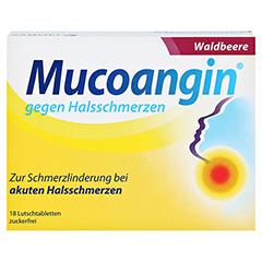 Mucoangin gegen Halsschmerzen Waldbeere 18 Stück - Vorderseite