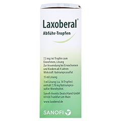 Laxoberal Abführ-Tropfen 7,5mg/ml 15 Milliliter N1 - Rechte Seite