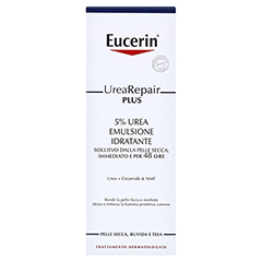 EUCERIN UreaRepair PLUS Lotion 5% + gratis Eucerin UreaRepair PLUS Handcreme 30 ml 250 Milliliter - Rückseite