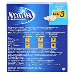 Nicotinell 7mg/24Stunden 7 Stück - Rückseite