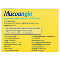 Mucoangin gegen Halsschmerzen Waldbeere 18 Stück - Rückseite