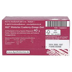 H&S Wintertee Cranberry-Orange-Zimt Filterbeutel 20x2.0 Gramm - Unterseite