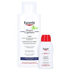Eucerin DermoCapillaire Kopfhautberuhigendes Urea Shampoo + gratis Eucerin pH5 Duschgel 50 ml 250 Milliliter