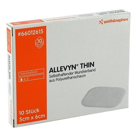 ALLEVYN Thin 5x6 cm dünne Wundauflage 10 Stück