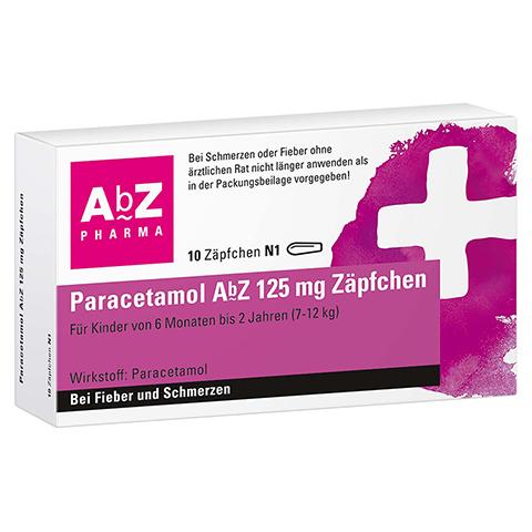 Paracetamol AbZ 125mg 10 St�ck N1