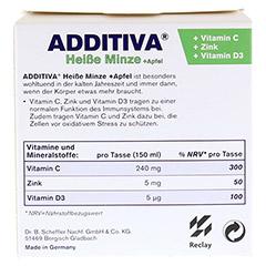ADDITIVA heiße Minze+Apfel Pulver 120 Gramm - Rückseite