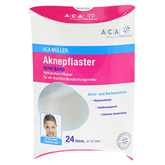 AKNEPFLASTER 1,2 cm rund Hydrokolloid ACA Müller 24 Stück