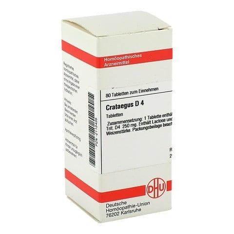 CRATAEGUS D 4 Tabletten 80 St�ck N1