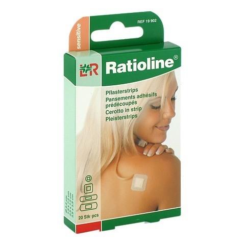 RATIOLINE sensitive Pflasterstrips in 4 Gr��en 20 St�ck