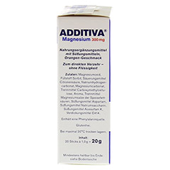 ADDITIVA Magnesium 300 mg Sticks Orange N 20 Stück - Linke Seite