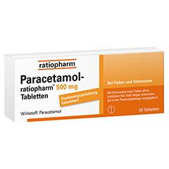 Paracetamol ratiopharm 500mg 20 Stück N2