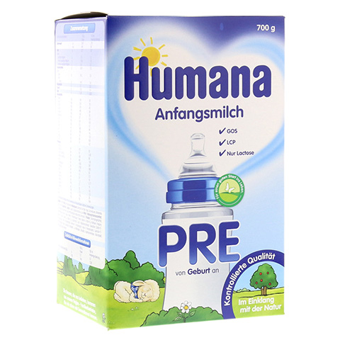 HUMANA Anfangsmilch PRE LCP+GOS Pulver 700 Gramm