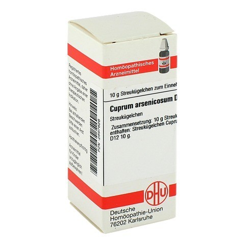 CUPRUM ARSENICOSUM D 12 Globuli 10 Gramm N1