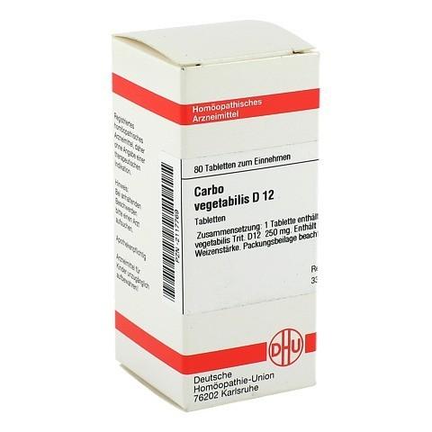 CARBO VEGETABILIS D 12 Tabletten 80 Stück N1