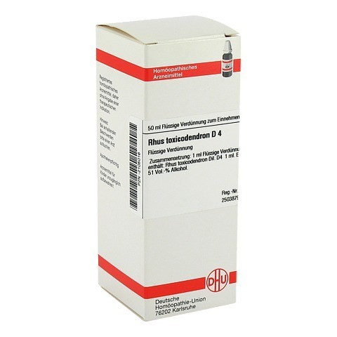 RHUS TOXICODENDRON D 4 Dilution 50 Milliliter N1