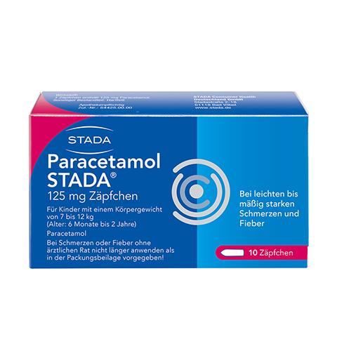Paracetamol STADA 125mg 10 Stück N1