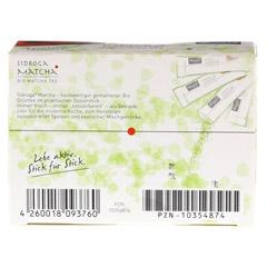 SIDROGA organic Matcha Tee Sticks 12 Stück - Rückseite