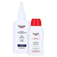 Eucerin DermoCapillaire Kopfhautberuhigendes Urea Intensiv-Tonikum + gratis Eucerin pH5 Duschgel 50 ml 100 Milliliter