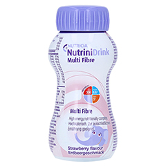 NUTRINIDRINK MultiFibre Erdbeergeschmack 200 Milliliter