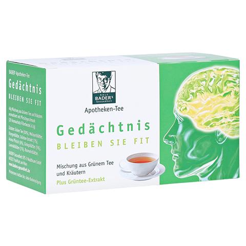 BADERS Apotheken Tee Gedächtnis Filterbeutel 20 Stück