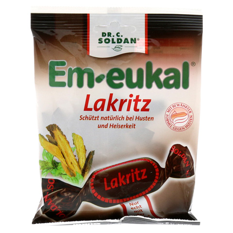 EM EUKAL Bonbons Lakritz zuckerhaltig 75 Gramm