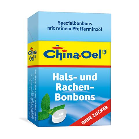 CHINA ÖL Hals- u.Hustenbonbons o.Zucker 40 Gramm